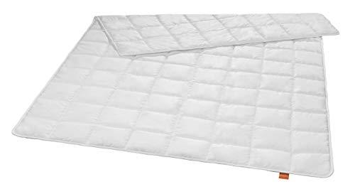 sleepling 197027 antibakterielle Anti Milben Bettdecke (Sanitized®) sommerleichtes Steppbett (Füllgewicht: 410 gr.), 135 x 200 cm, weiß