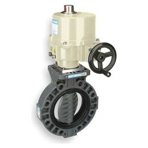 """Hayward BY Series PVC Butterfly Valve, Electronic Actuated, Viton Seat, 3"""" from Hayward"""