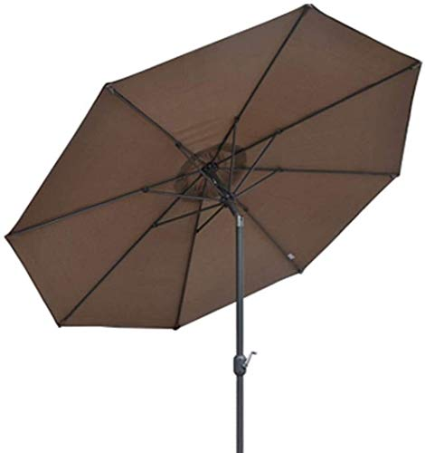 LYYJIAJU Parasolparasol Garden & Outdoors Outdoor Beach Patio Umbrella 9.8ft/3m, Garden Parasol Sun Umbrella with Crank and 8 Sturdy Ribs, Waterproof and Fade Resistant