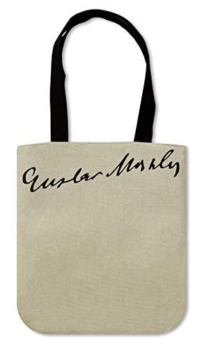 Gustav Mahler Signature Canvas Einkaufstasche