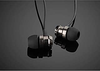 Earphones HiFi Stereo Bass in-Ear Noise Canceling Headphones Wired Earpiece for Cell Phones with Microphone (Black)