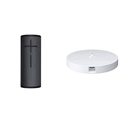Ultimate Ears Boom 3 Altavoz Portátil Inalámbrico Bluetooth + Base de Carga Power Up, Graves Profundos, Impermeable, Flotante, Conexión Múltiple, Batería de 15 h, color Negro