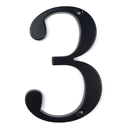 Tiober Negro 4' Sesión Dirección 101mm Modern House Número De Puerta De La Casa Domicilio Número De Dígitos De Aleación De Zinc De Big 0-9 Buzón (Color : 3)