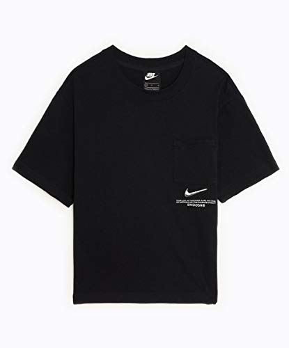 Nike W NSW Swsh SS Top T-Shirt für Damen, T-Shirt, CZ8911-010, CZ8911-010 Large