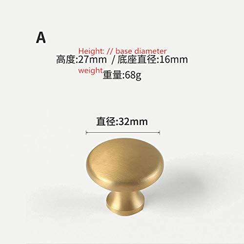 Schranktürgriff, reines Kupfer, massiv, Gold, Massivholz Kleiderschrank, Schrank, Griff, goldene kupferfarbene Möbel Kupfergriff