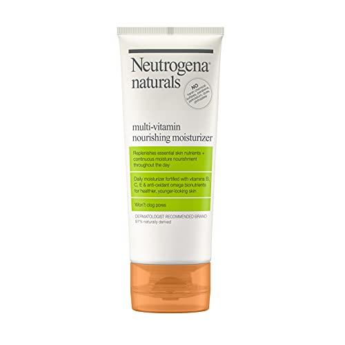 Neutrogena Naturals Multi-Vitamin Nourishing Daily Face Moisturizer with Antioxidant Bionutrients & Vitamins B, C & E, Non-Comedogenic & Sulfate-, Paraben-, Phthalate- & Dye-Free, 3 fl. oz