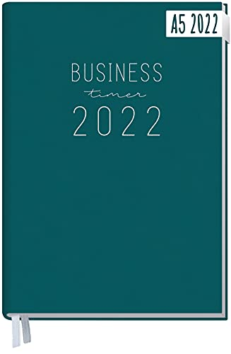 Chäff Business-Timer 2022 A5 [Petrol] 1 Woche 2 Seiten | Terminplaner, Wochenplaner, Wochenkalender, Organizer, Terminkalender für perfektes Zeitmanagement | nachhaltig & klimaneutral
