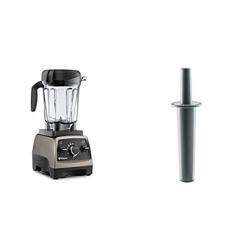 Vitamix, Pearl Grey, Series 750 Blender, Professional-Grade, 64 oz. Low-Profile Container & Mini-Tamper, 9.75 inches, Black
