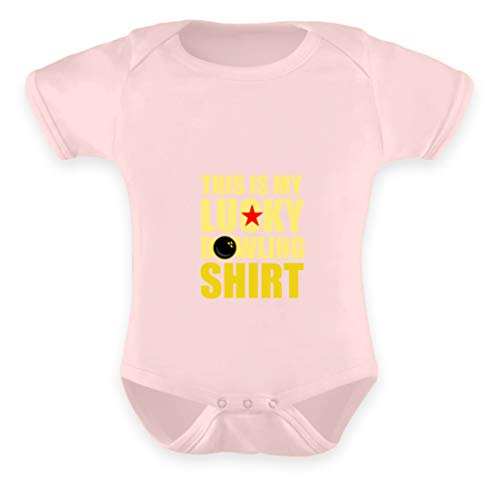 That's My Bowling Lucky Shirt. - Baby Body -6-12 Monate-Puder Rosa