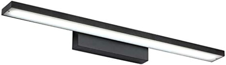 LED Aluminium Badezimmerspiegel Scheinwerfer Wasserdicht und Feuchtigkeitsfest Kreative Moderne Minimalistische Lampen - Schwarz Beleuchtung zu Hause A+ (Farbe   Weies Licht-60cm(12w))