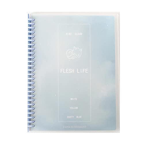 JUGTL Cuaderno Para Estrellas De Papel De Alta Calidad Desmontables Ruled Diario Cuaderno De Hojas Sueltas Cuaderno De Bobina Portátil Libreta Notas Azul B5 265X200mm