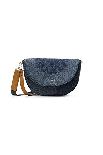 Desigual PU Body Bag, Sac de Sport Across. Femme, Bleu, Taille Unique