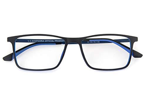 Nowave SAMPDORIA Occhiali da lettura Anti luce blu   Occhiali per PC e Monitor   Leggeri in titanio   Occhiali +1,00
