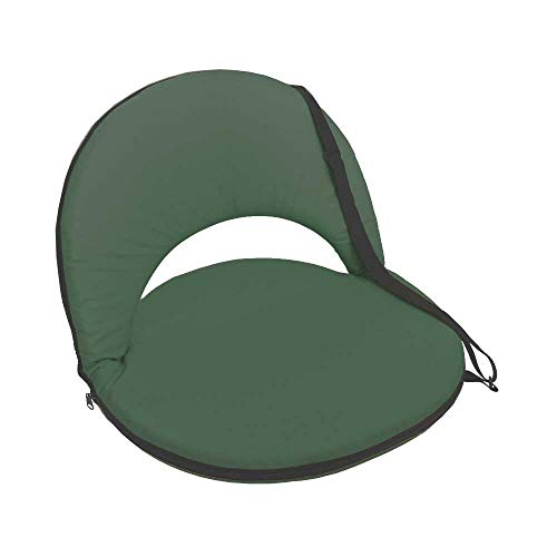 NCC-Design Boden Klappstuhl mit Stahlrahmen Bodensessel tragbar innen & außen besonders robust verstellbar (Krokodil Grün)