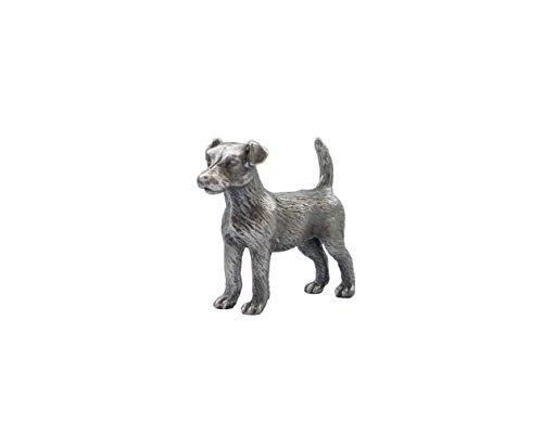 Zinngeschenke Hund aus Zinn von Hand patiniert, vollplastisch, Setzkastenfigur, Vitrinenfigur, Sammlerstück, Zinnfigur, Zinnfiguren (HxL) 4,2 x 5,0 cm