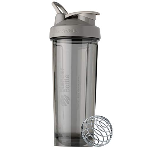 BlenderBottle Shaker Bottle Pro Series Perfect for Protein Shakes and Pre Workout, 32-Ounce, Smoke Grey