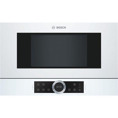 Bosch Serie 8 BFR634GW1 - Microondas (Integrado, Solo microondas, 21 L, 900 W, Giratorio, Tocar, Blanco)