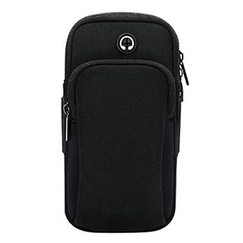 Borsa del braccio del telefono mobile di progettazione del foro del trasduttore auricolare del sacchetto del polso del sacchetto del braccio di sport degli uomini e delle donne