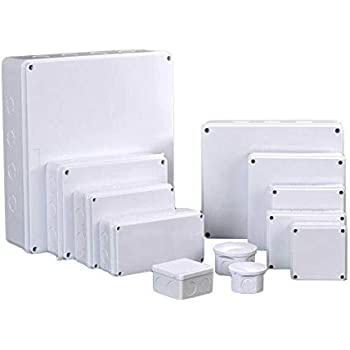 TOOLSTAR Caja de derivaciones, IP55 ABS, caja de plástico para proyectos eléctricos de bricolaje, caja de proyectos para exterior/interior (paquete de 1), gris: Amazon.es: Bricolaje y herramientas