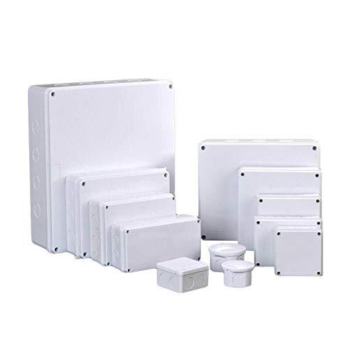 Caja de conexiones de plástico ABS, caja de proyectos eléctricos, resistente al agua, ABS, bricolaje, para exteriores, a prueba de polvo, conector IP55 (200 x 155 x 80 mm)