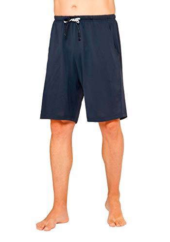 hajo Herren Pyjama Hose kurz Klima Komfort Art. 50033 609 Marine, Größe:48 S