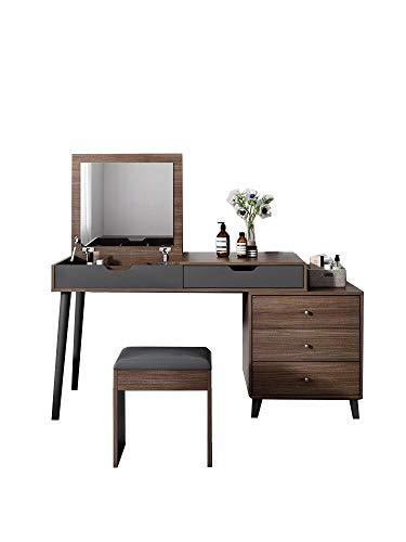 ZGQA-GQA Moderno tocador minimalista multifunción con cubierta de maquillaje, mesa de estudio, escritorio de computadora (color: 1,2 x 0,55 x 0,75 cm)