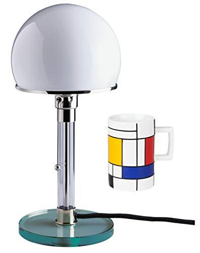 Tecnolumen Wagenfeld Bauhaus Lampe Tischleuchte Leuchte WG 24 | bauhaus | lamp design | Tischleuchte + gratis Becher Mondrian