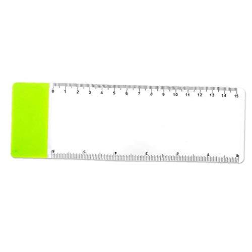 Uayasily 3 Lentes Pc Página Lupas Regla De Magnificación De Plástico Transparente Marca Lupas 3 Aumentos Color Azar