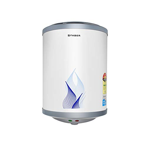Faber 6Ltr Storage Water Heater (FWG Vulcan 6V), 5 Star, 7 yrs Warranty on Tank, Free Installation with Inlet &...