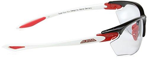 Alpina Unisex Sportbrille Twist Four VL+, black/red/white, A8434137 - 3