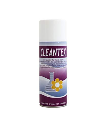 Rampi Cleantex - Pre-Smacchiatore Smacchia Bucato Additivo Spray Per Macchie Difficili Formula Professionale Per Lavanderie Per Lavaggio A Secco o Acqua - 400 ML