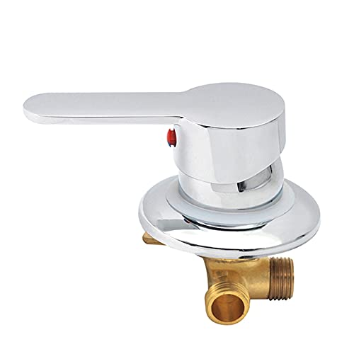Monomando Ducha, Mezclador de agua fría caliente ajustable Control constante para baño, Grifo mezclador de ducha de doble control de latón con rosca (Estilo 3)