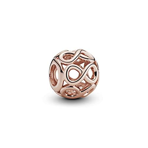 Pandora Charm in Form von Unendlichkeits-Symbolen mit 14 Karat rosévergoldete Metalllegierung aus der Pandora Moments Collection