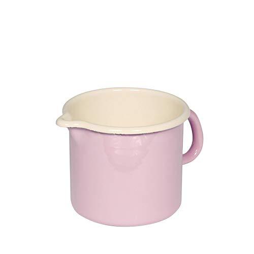 Riess 0040-006 - Klassische Haushaltsgegenstände Farb-/Pastellkrug, Durchmesser 12 cm, rosa