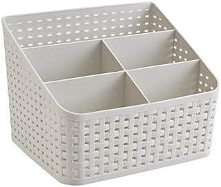 Fai Top Panier de rangement, boîte de rangement en plastique, boîte de rangement pour bureau, chambre à coucher, comptoir,...