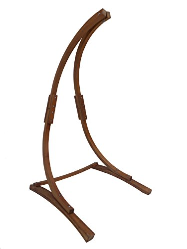 Petra Leisure 7 Ft. Teak Stain Hammock Chair Stand. Perfect
