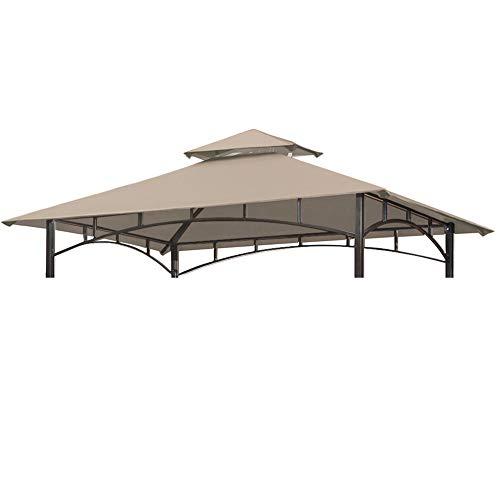 CoastShade Grillpavillon, doppelstöckig, Ersatzdach für den Außenbereich, 1,5 x 2,4 m, cremefarben