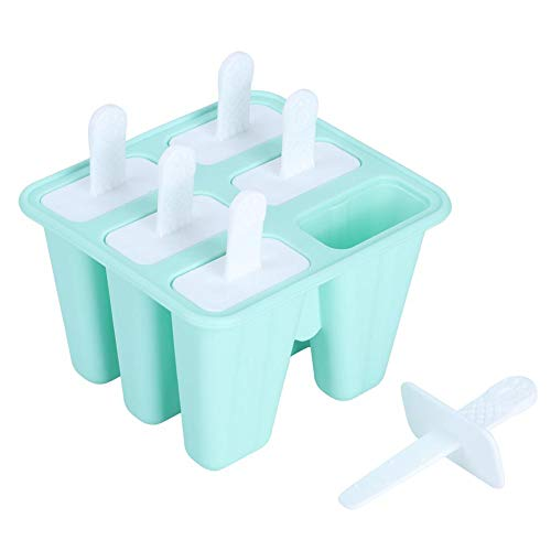 Groene ijs schimmel Popsicle Makers siliconen mal DIY Ice Tray Tools voor hete zomer(6 Grids)