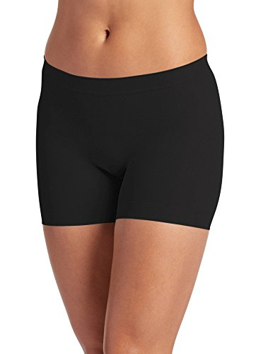 Jockey Skimmies Kurze Länge Slipshort, weich,Black, XL