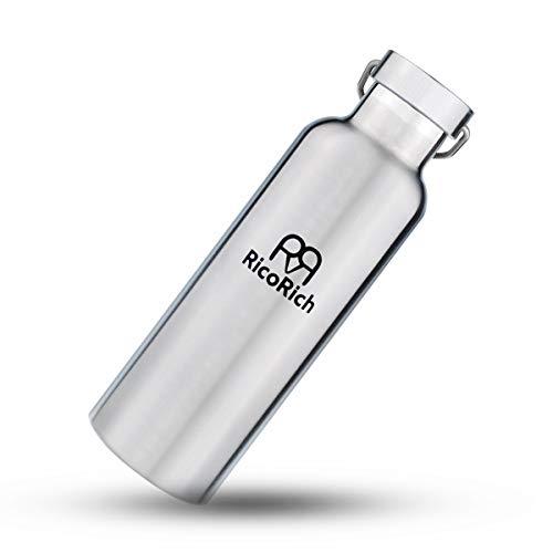 RicoRich スポーツボトル 真空断熱 ダブルステンレスボトル 750ml (RRWB06-SL)