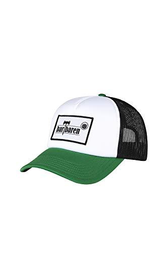 barTbaren weiß grüne Truckercap mit schwarzem Netz – verstellbare Mesh Baseball Cap mit coolem großen Logo Patch und Snapback-Verschluss