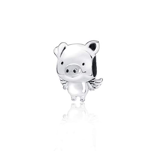 Jewelry Bracelet 925 Pandora Natural Autumn New Sterling Silver Beads Pippo The Flying Pig Charms Fit Original Diy Gifts For Women