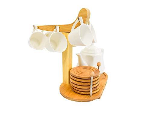 Conjunto de Café Com 6 Xícaras e Bule Em Cerâmica Simona