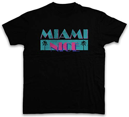 NR RyEudBaoP Miami Nice T-Shirt USA Florida Sea Beach Palms Bar en Grill Vice Vakantie