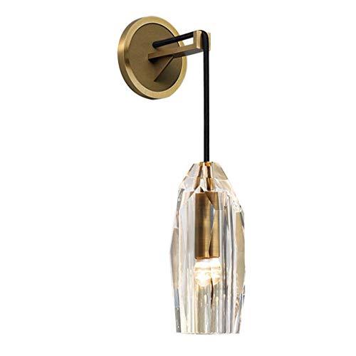Luminaires & Eclairage/Luminaires intérieur/AP Applique en cuivre lumière Cristal Lampe de Mur Salon Fond Lampe Murale allée Couloir Lampe Chambre Lampe de Chevet A+