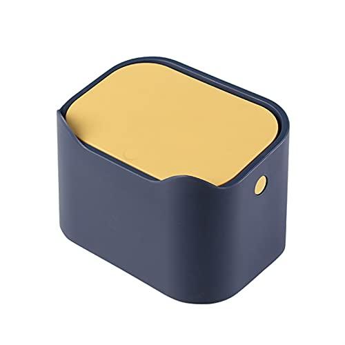 FIJTPSAN Desktop Fash Can Office Desktop Winded Ball Bath Bathing Ball Bank Bin Mesa de Comida Rubbish Can Portable Coche Basura (Color : A)