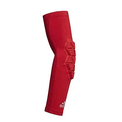 Adidas Alphaskin Herren-Ellenbogenschoner aus Ironskin mit Fußball, gepolstert, Gr. S, Rot