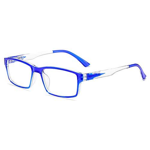 GEMSeven Hombres Mujeres Gafas De Miopía Con Gradiente De Marco Cuadrado Cerca De Anteojos ópticos