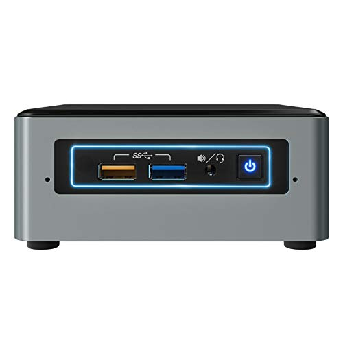 Intel Nuc Mini Komplett PC, Intel i5-8259U Quad Core 4 x 3.80 GHz, 8 GB DDR4 RAM, 256 GB SSD, USB 3.1, HDMI, Intel Iris Plus Grafik 640, 4K Auflösung, Windows 10 Pro, 3 Jahre Garantie