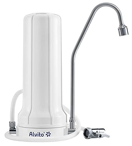 Alvito AuftischFilter Pro Wasserfilter, Wasseraufbereitung, Weiß, normal